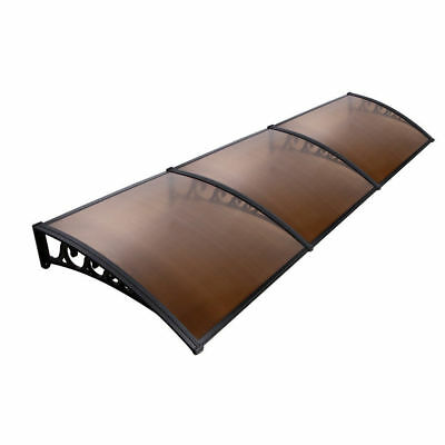 DIY Window Door Awning Cover/Privacy Brown Rain Outdoor Cover Sun Shield 1m x 3m