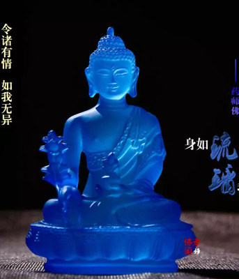 Exquisite resin glass pharmacist Buddha statue z1000