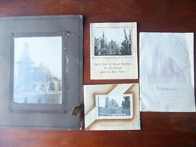 Vintage LOXTON SA St PETRI LUTHERAN CHURCH PHOTO,CARDS, 1926 OPENING BOOKLET.