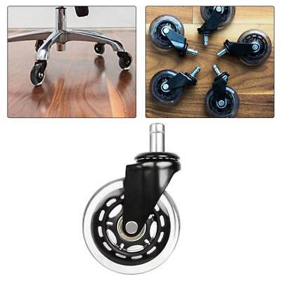 3 Inch Style PU Transparent Chair Wheels for Office Chairs casters Set 1PCS