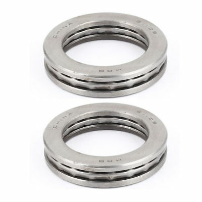 H● 2 Pcs 51109 Axial Ball Single Thrust Bearing 65mm x 45mm x 14mm Silver Gray