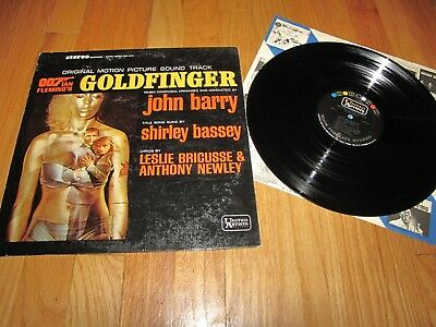 Goldfinger - James Bond Original Motion Picture Soundtrack - United Artists Lp