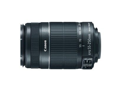 Canon EF-S 55-250mm f/4.0-5.6 IS II Lens, Black ~ Brand New in Box