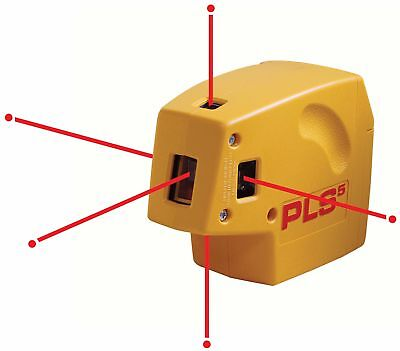 PLS 5 Laser Alignment Tool Plumb Laser Level NIB