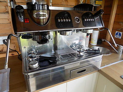 Expobar Markus 2 group Traditional Espresso coffee machine, with Knock box Riser