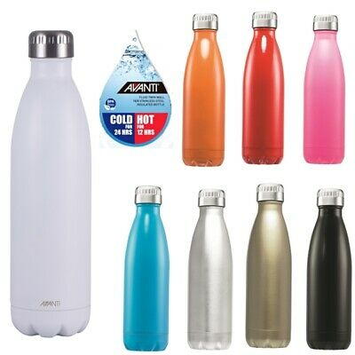 Avanti BPA Free Fluid 750ml Water Vacuum Thermo Bottle Stainless Steel Cold or H