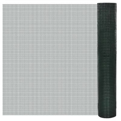 vidaXL 1x25m Galvanised Wire Netting Mesh Pet Poultry Fencing Chicken Coop 12mm