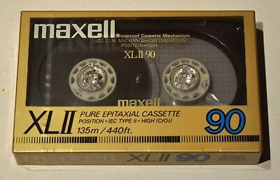 New Maxell XLII 90 Minute Audio Tape IEC Type II-High (CrO2) Made in Japan
