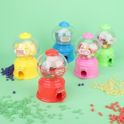 Cute Sweets Mini Candy Machine Bubble Gumball Dispenser Coin Bank Kids Toy Gift