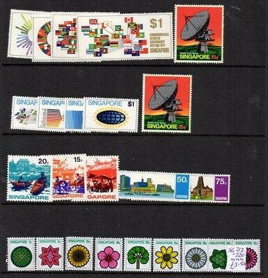 Stamps Singapore Selection mint unhinged from the early 1970's inc. min. sheet.