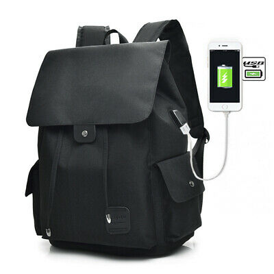 Casual Tech2Go - Durable Polyester Laptop Backpack with USB Charging Port Black