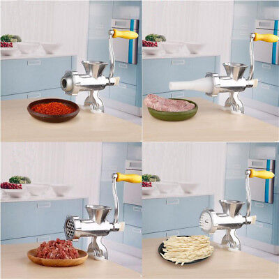 Heavy Duty Meat Mincer Grinder Manual Hand Operated Kitchen Beef Sausage Make HE