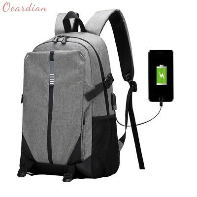 Ultra Smart Tech2Go Rechargable Large Laptop Backpack USB Charging Port - Gray