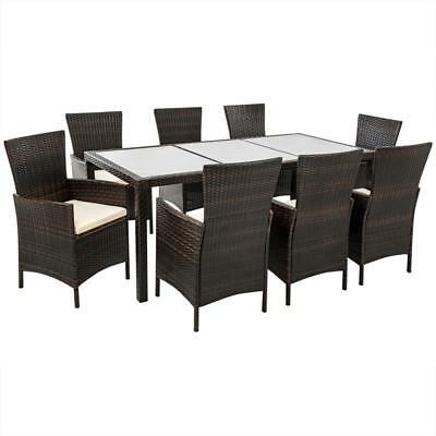polyrattan sitzgruppe miranda essgruppe gartenm bel terassenm bel set 6 personen eur 499 90. Black Bedroom Furniture Sets. Home Design Ideas