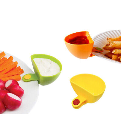 Chip & Dip Cup Clip - Party Set of 3 100% BPA Free Plastic