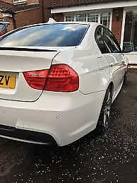 BMW E90 PAINTED Gloss Black E90 Saloon ABS BOOT LIP SPOILER M3 STYLE OME FIT