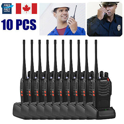10PCS Baofeng Walkie Talkie 2 Way Radio BF-888S UHF400-470MHZ Long Range 5W 16CH