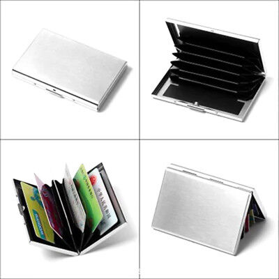 Pocket Stainless Steel and Plastic Business Card Holder Case ID Credit Wallet 1x