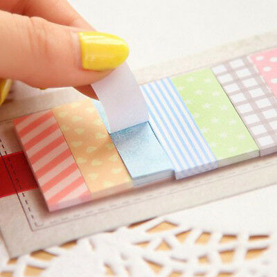 160 Pages Lovely Sticker Bookmark Memo Paper Marker Post Flags Sticky Note 2pcs
