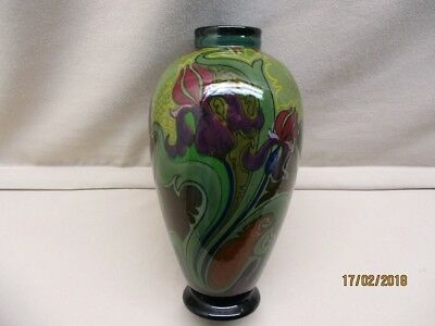 Gouda high glossy baluster vase marked Zuid-Holland period 1914-1917.