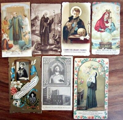 Lotto 7 SANTINI HOLY CARDS