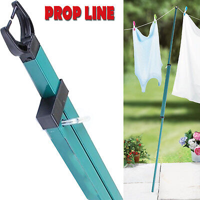 Heavy Duty Extendable Telescopic Washing Prop Line Support Clothes Pole Outdoor