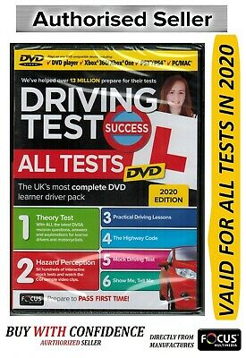 2019 Driving Theory Test Success All Tests & Hazard Perception PC/MAC DVD ATDv