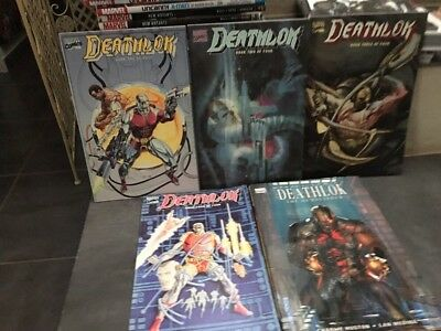 COMPLETE DEATHLOCK GN 1 To 4 & THE DEMOLISHER HC Marvel comics