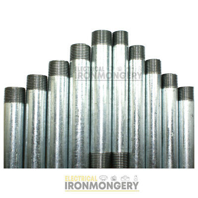 Steel Conduit Tube - Pre Cut and Threaded Short Lengths | 20mm and 25mm Diame...