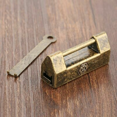 43*13*18mm Antique Latch Chest Suitcase Jewelry Box Hasp Padlock Catch Decor
