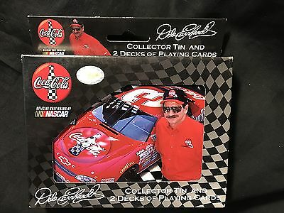 COCA COLA 2004 Dale Earnhardt 2 Decks Bicycle Playing Cards In Collectible Tin