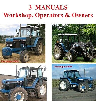 FORD 5640 6640 7740 7840 8240 8340 Tractor Hydraulic Service Manual ...