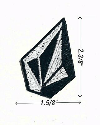 Volcom Logo Embroidery iron and sewing on patches