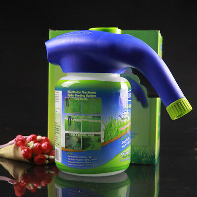 Hydro Mousse Lawn Grass Growth Garden Sprayer Bottle Box Pack No Seed and Liquid