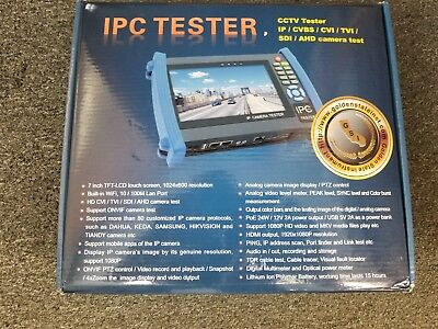 "IPC CAMERA CCTV 7"" Touch Screen IP/Analog Tester"