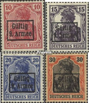 romania. (German. cast.)-9. Army 1-4 (complete issue) unmounted mint / never hin