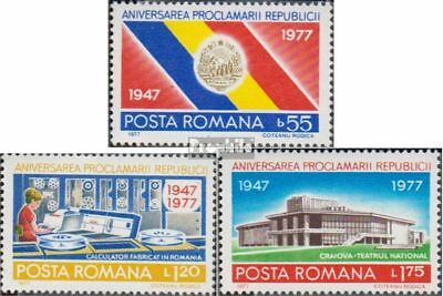 Romania 3481-3483 (complete issue) unmounted mint / never hinged 1977 Romanian P