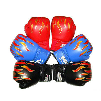 Children Kids FIRE Boxing Gloves Sparring Punching Fight Training Age 3-12CLC
