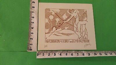 "Exlibris 35 "" Erotic Palmirani "" - * Antonio Grimaldi * - X Color Signed !"