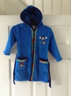 Boys Mickey Mouse Disney Dressing Gown 12-18 Months