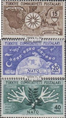 Turkey 1388-1390 (complete.issue.) unmounted mint / never hinged 1954 5Jahre NAT