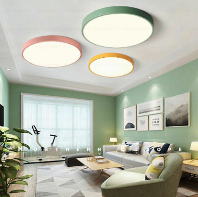 5CM Ultra-thin Ceiling Light Macaron Color Round Acrylic Led Ceiling LampFixture