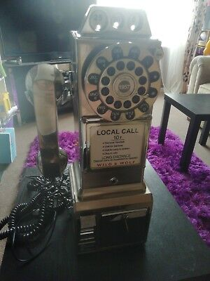 Wild And Wolf American Diner Vintage Home Telephone