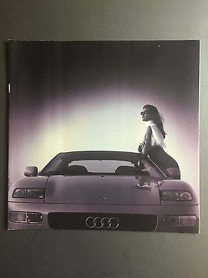 1992 Audi Quattro Spyder Concept Showroom Advertising Brochure RARE Awesome L@@K