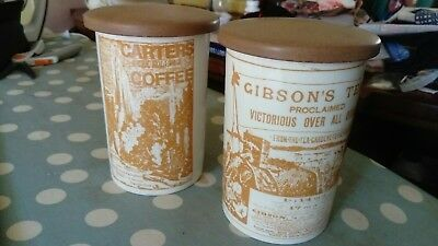 crown devon storage jars Gibson tea carters coffee