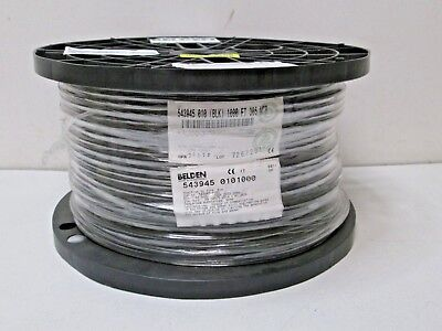 Composite Camera Cable ~ 1 RG59 and 3 22AWG Shielded Pairs 25/' Belden 9165