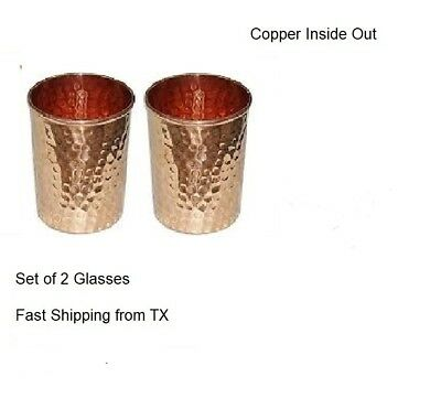 Hammered Copper glass / Water Pitcher  / Water Cup /Ayurveda Health Benefits.