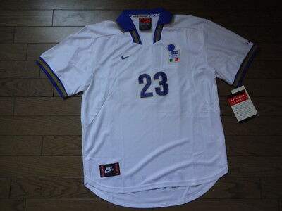 0186cd067c9 Italy 100% Original Soccer Football Jersey Shirt L NEW 1997 #23 Extremely  Rare