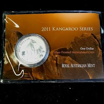 2011 1 Ounce Silver Frosted Kangaroo Series Coin (20,000 Minted)