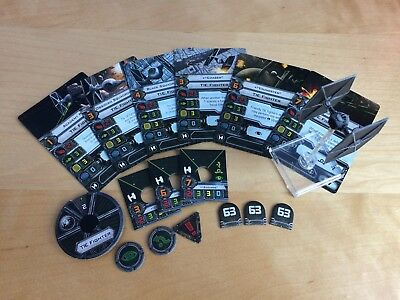 X-wing miniatures Imperial TIE fighter plus pilots from Assault Carrier